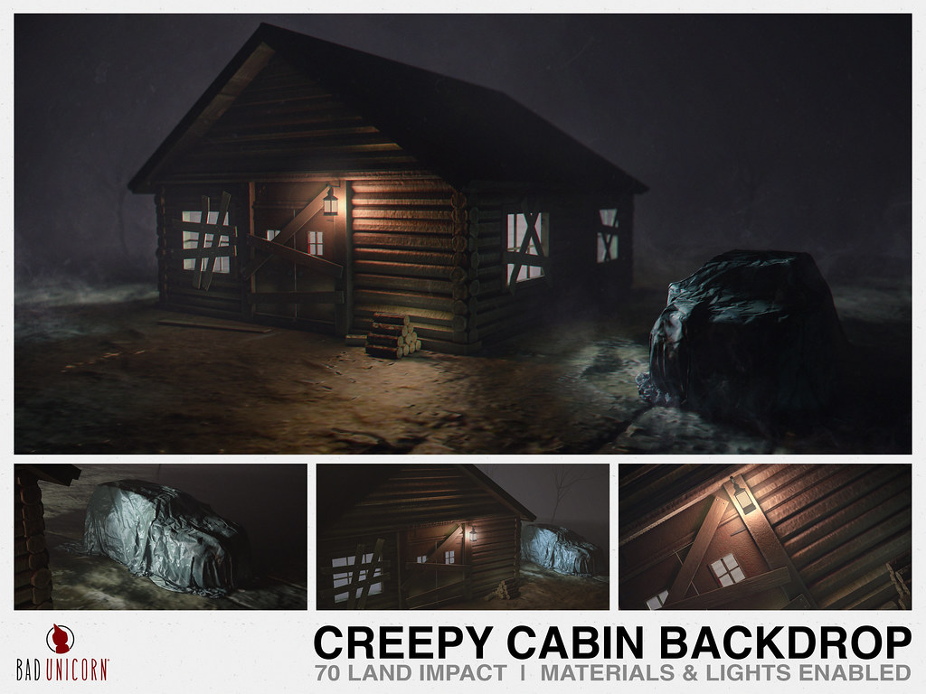 NEW!Creepy Cabin Backdrop @ Kustom9