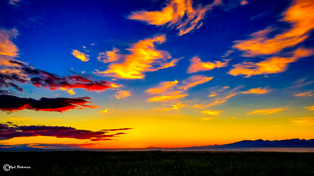 Colorful Sky at Terra Nova Park, Richmond, BC, Canada