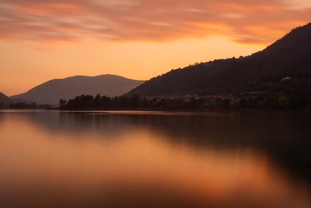 Endine Lake sunset