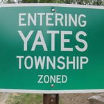 Entering Yates Township Sign (Idlewild, Michigan)
