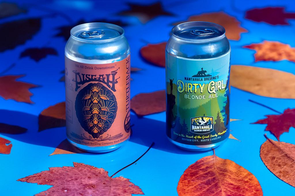 Pisgah Brewing Company's Turtleback Brown Ale and Nangahala Brewing's Dirty Girl Blonde Ale