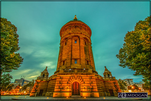 mannheim wasserturmmannheim mannheimerwasserturm stadtmannheim sunset colors germany deutschland almanya travel wideangle weitwinkel canoneos77d