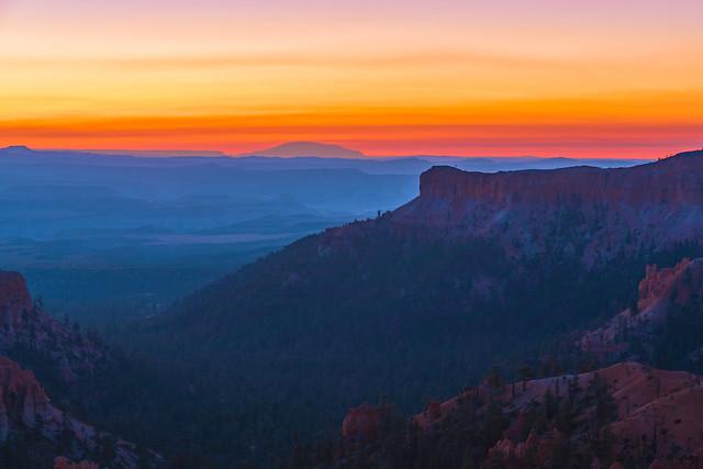 One hour before sunrise. Bryce canyon, Utah