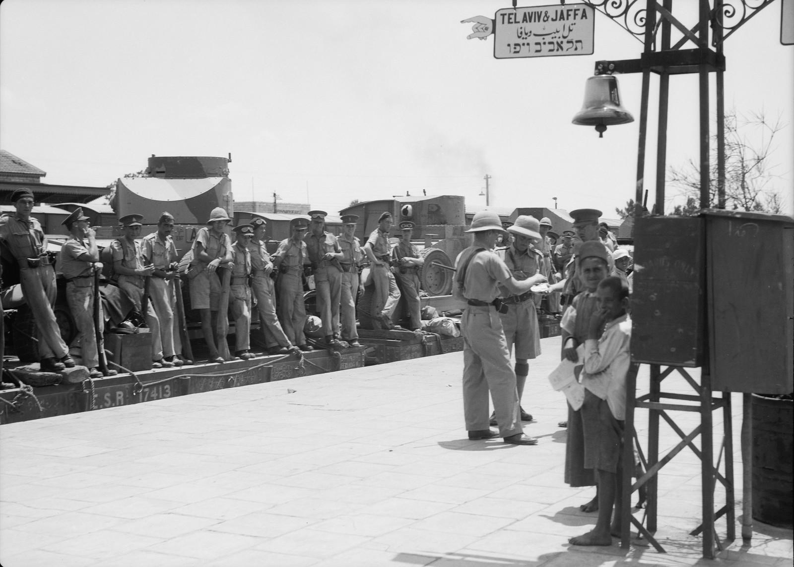 03. Британские войска прибыли в Лод, 15 июля