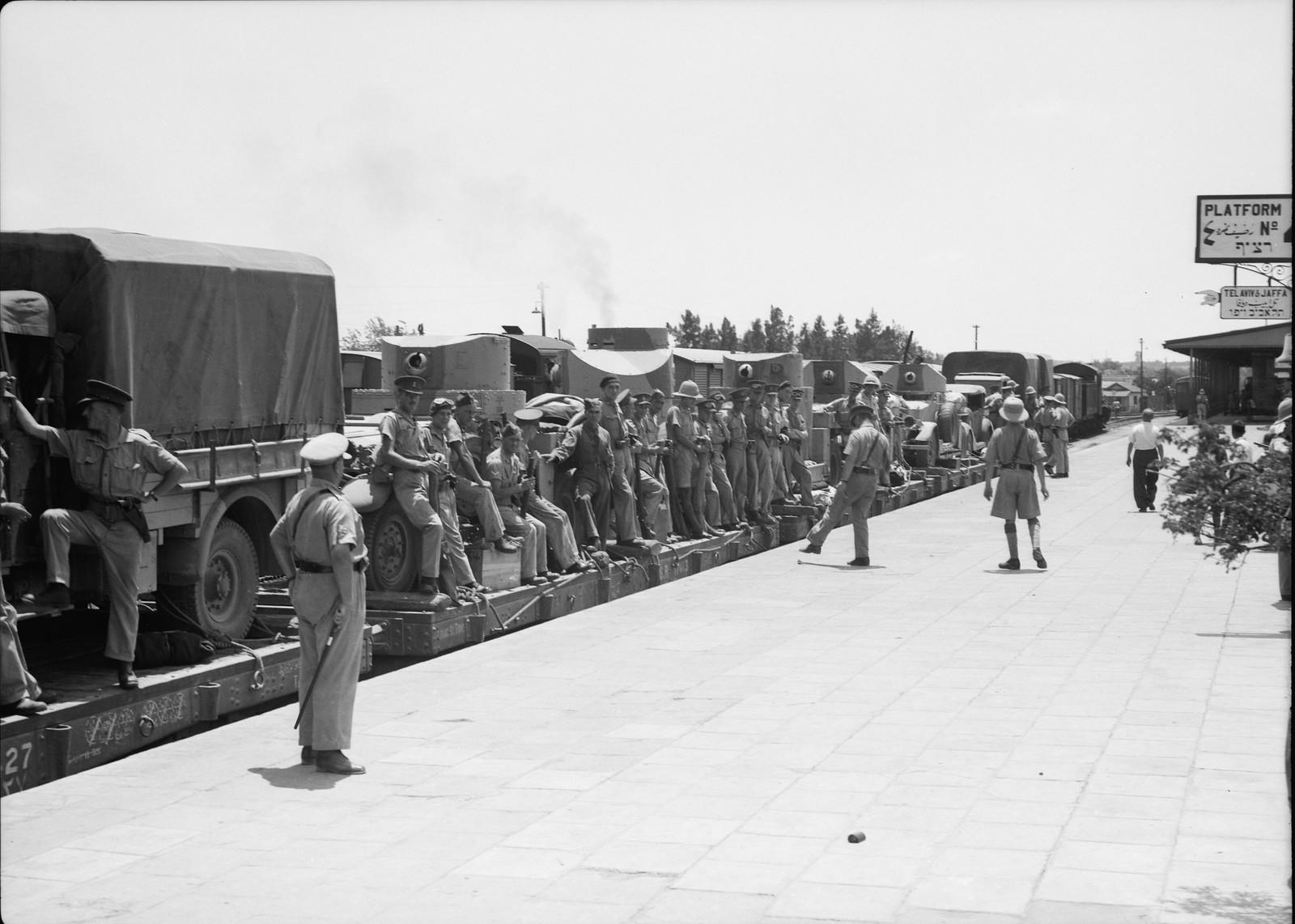 02. Британские войска прибыли в Лод, 15 июля