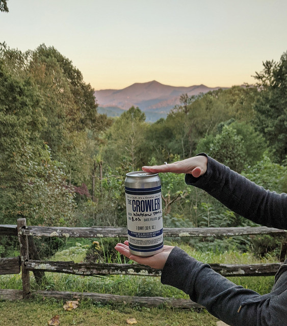 a Crowler from Mountain Layers Brewing