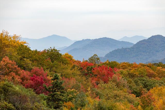 Blue Ridge Parkway mountain views