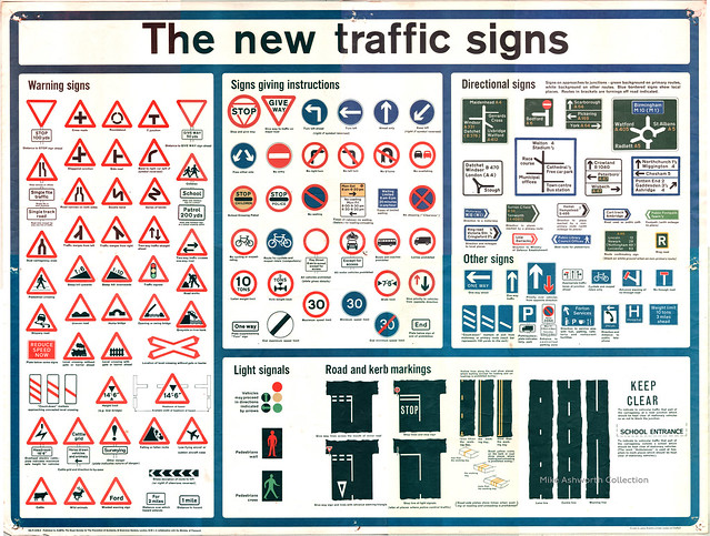 New Traffic Signs Poster - UK, 1965