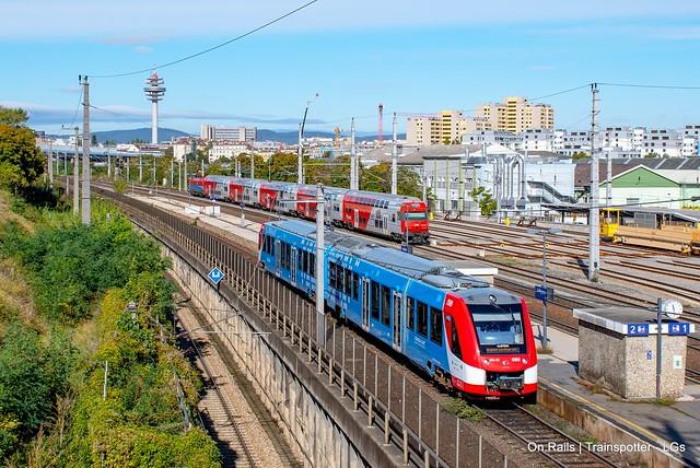 Alstom/ÖBB 654 001 ''Hydrogen iLint'' spotted in Wien Grillgasse