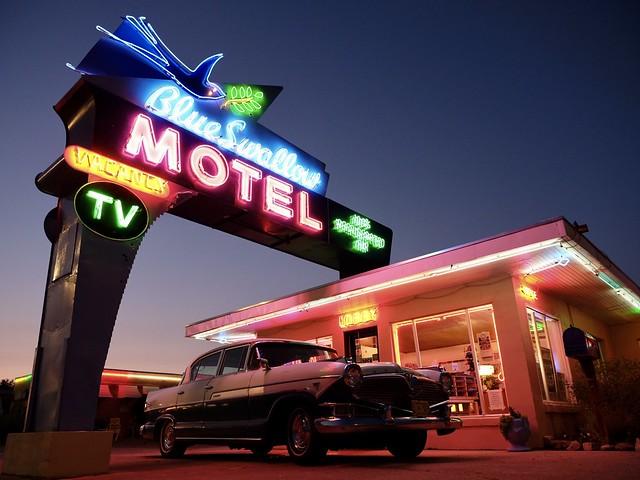 The iconic Blue Swallow Motel. Tucumcari NM goodness.