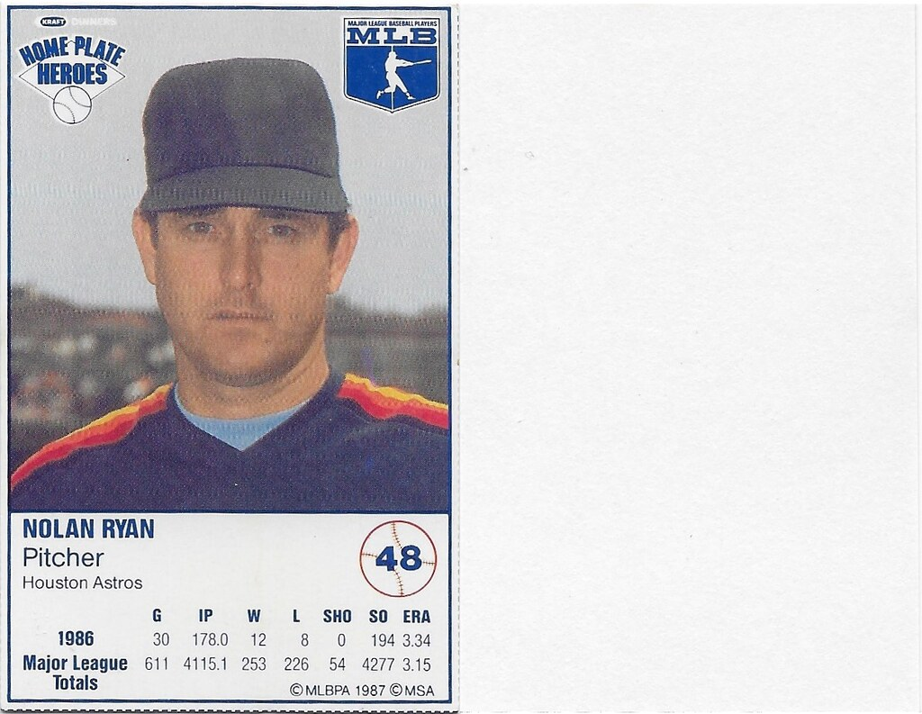 1987 Kraft Sample (Nolan Ryan)
