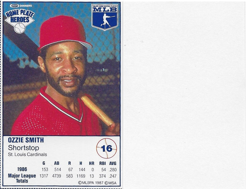 1987 Kraft Sample (Ozzie Smith)