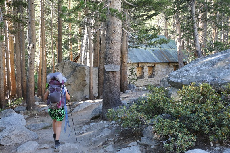 We arrived at Lon Chaney's Cabin on the NF Big Pine Creek Trail
