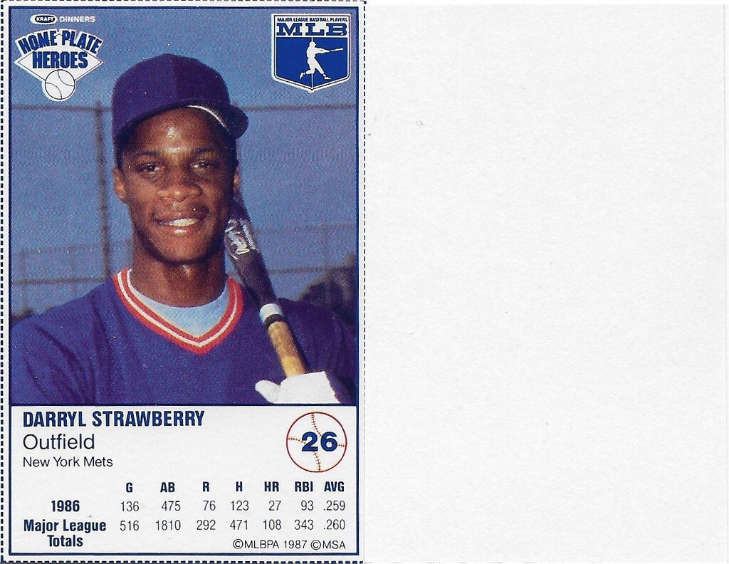 1987 Kraft Sample (Darryl Strawberry)