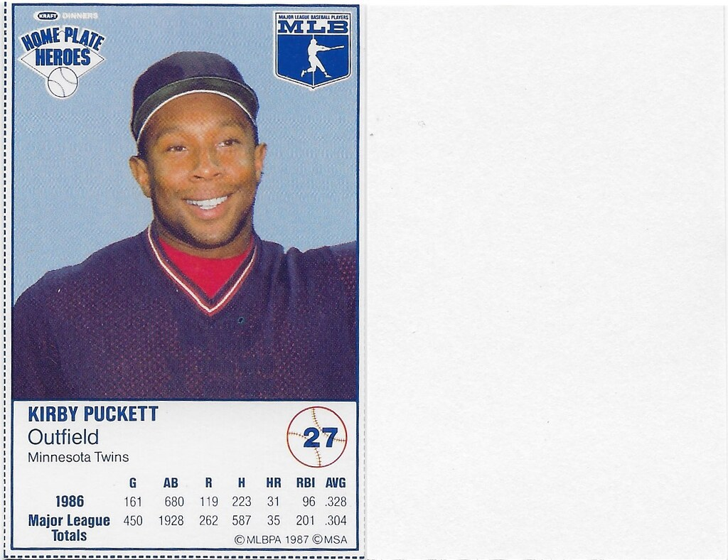 1987 Kraft Sample (Kirby Puckett)