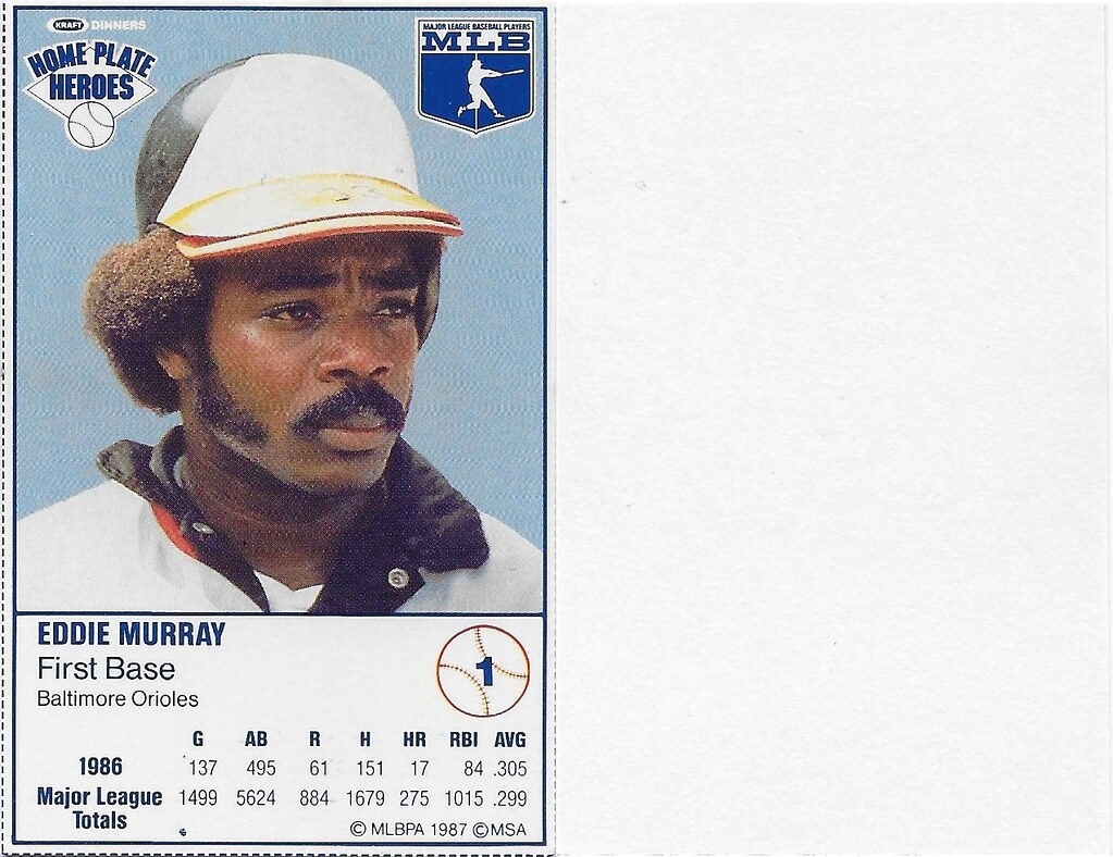 1987 Kraft Sample (Eddie Murray)