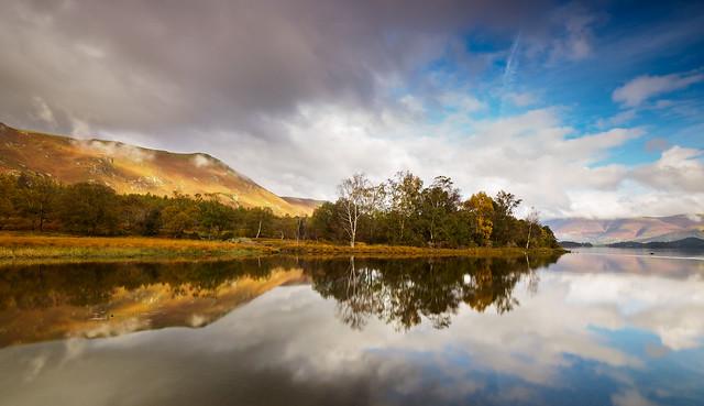 Derwent water autumn reflection 2