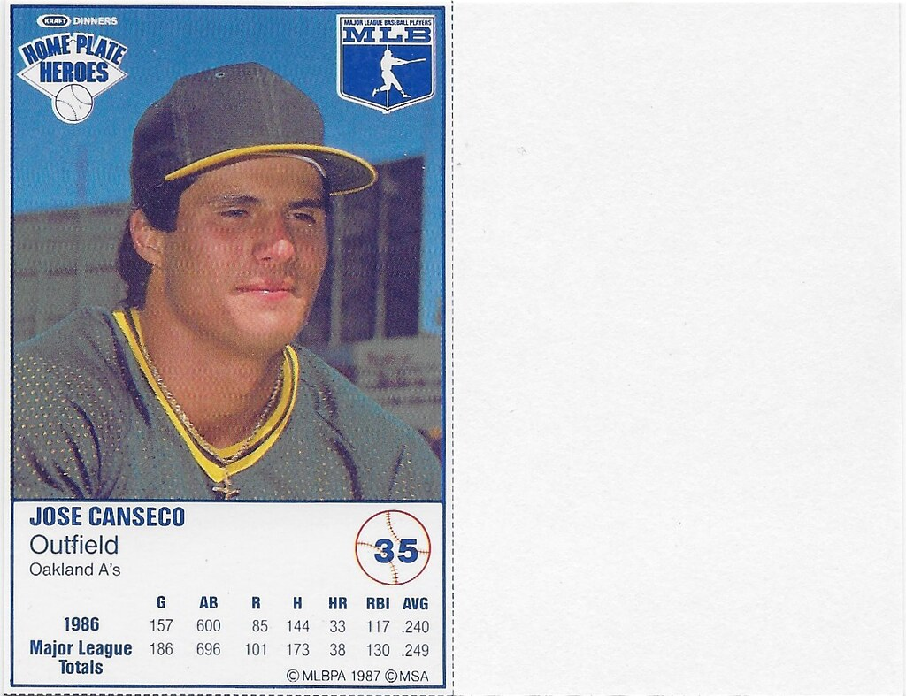 1987 Kraft Sample (Jose Canseco)
