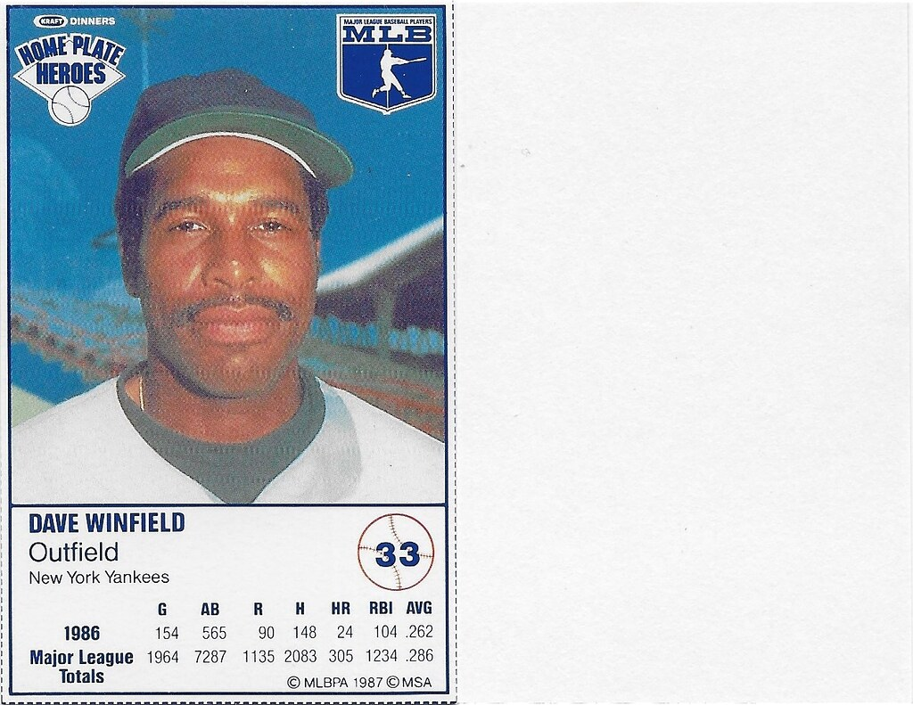 1987 Kraft Sample (Dave Winfield)