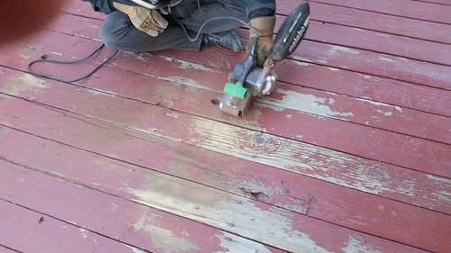 Sanding the Porch