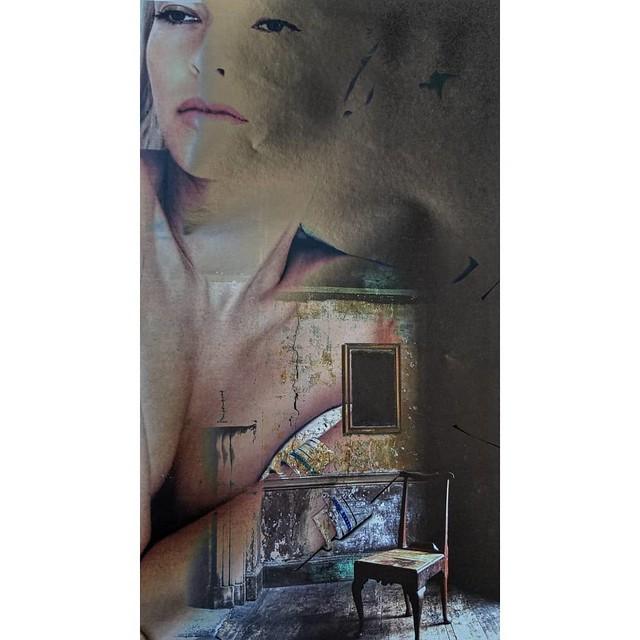 Dreaming #84rooms #doubleexposure #digitalcollage #portrait #doubleexpomagazine #fashion #igart #kunst #instakunst #instsagramartist #ephemeral #contemporaryart #emptychair