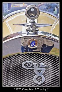 1920 Cole Aero 8 Motometer and Radiator Badges