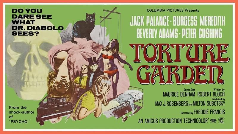 Affiche du film Le Jardin des tortures (Torture Garden, Freddie Francis, 1967)