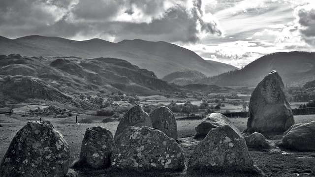 High Seat from Castlerigg stone circle