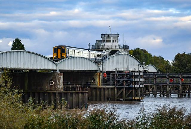 150203 on Goole Swing Bridge
