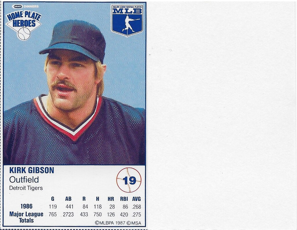 1987 Kraft Sample (Kirk Gibson)