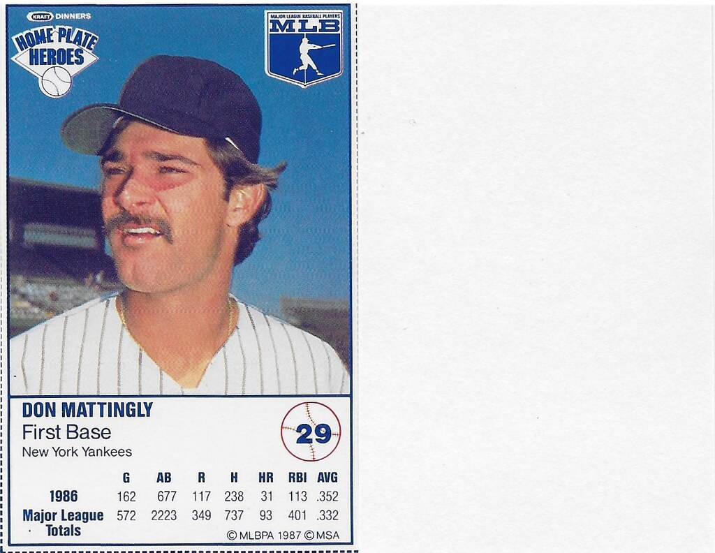 1987 Kraft Sample (Don Mattingly)