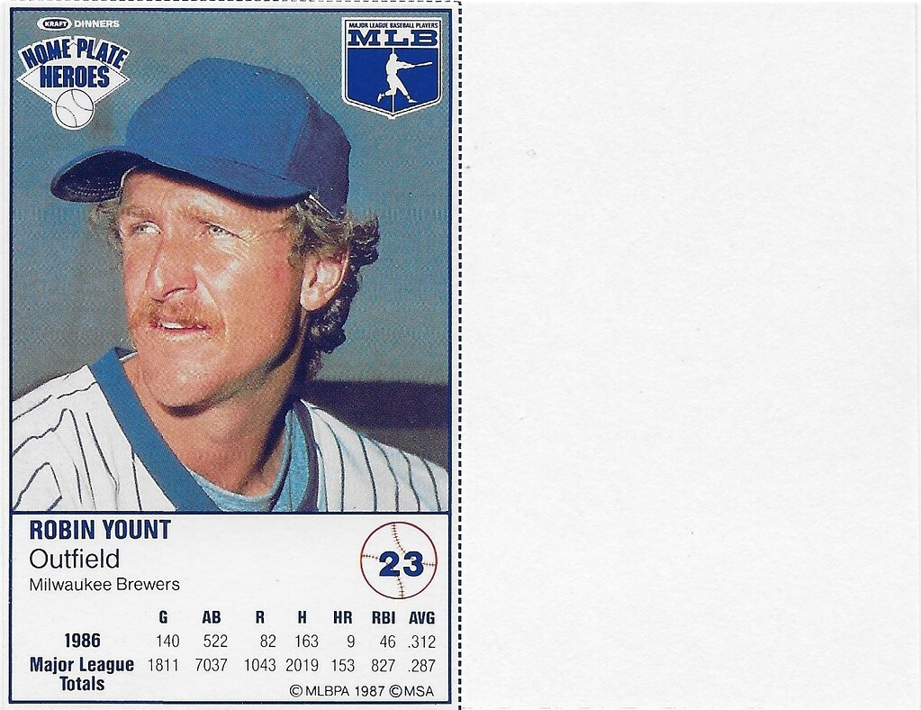 1987 Kraft Sample (Robin Yount)