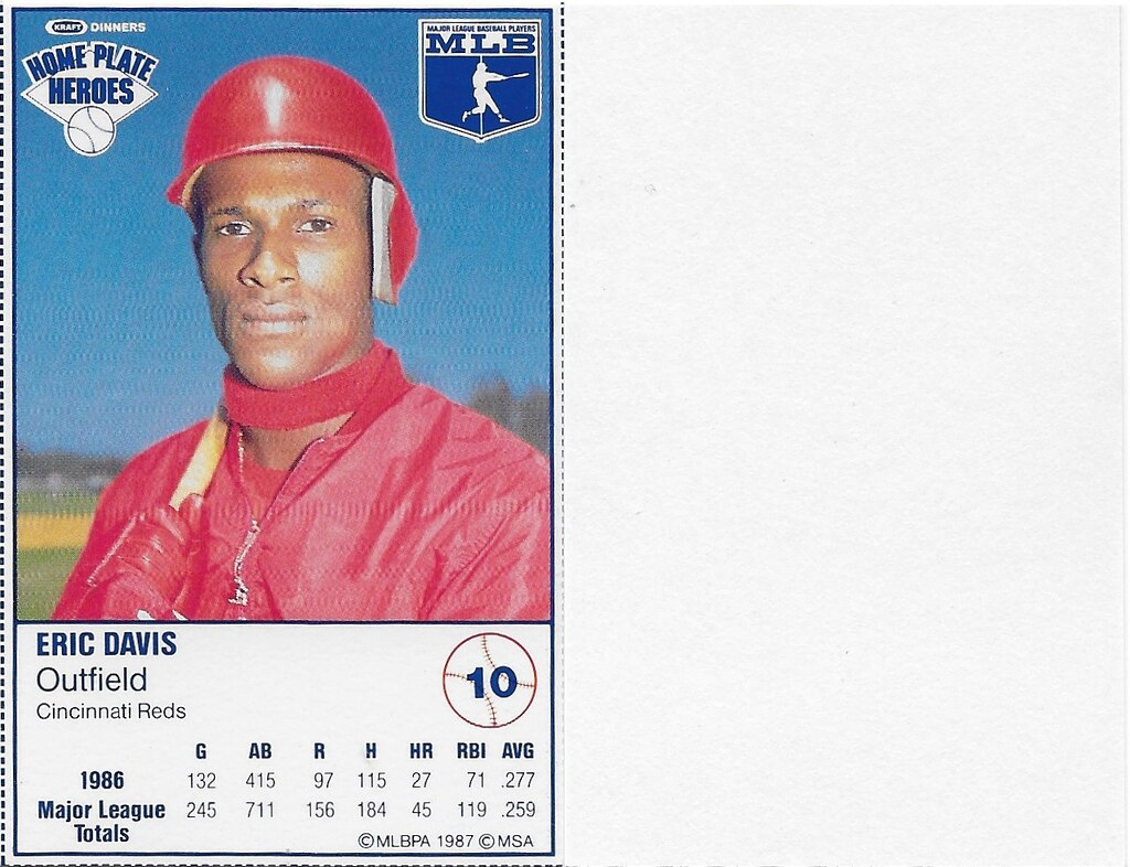 1987 Kraft Sample (Eric Davis)