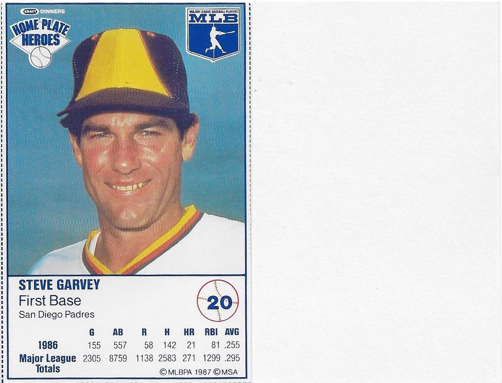 1987 Kraft Sample (Steve Garvey)