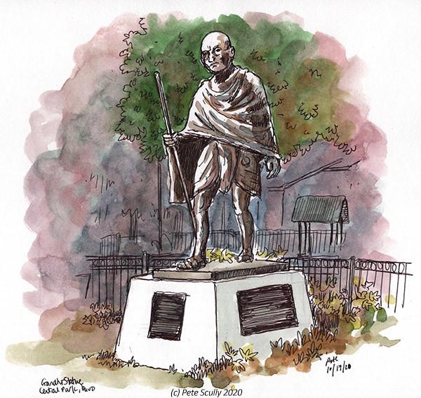 LDD Oct2020 Gandhi Statue sm