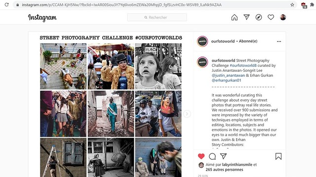 Instagram Street Photography 2020 Groupe OURFOTOWORLD