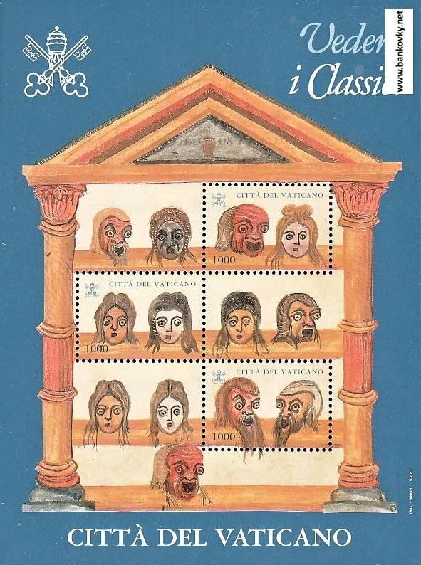Známky Vatikán 1997 Vedere i classici nerazítkovaný hárček MNH