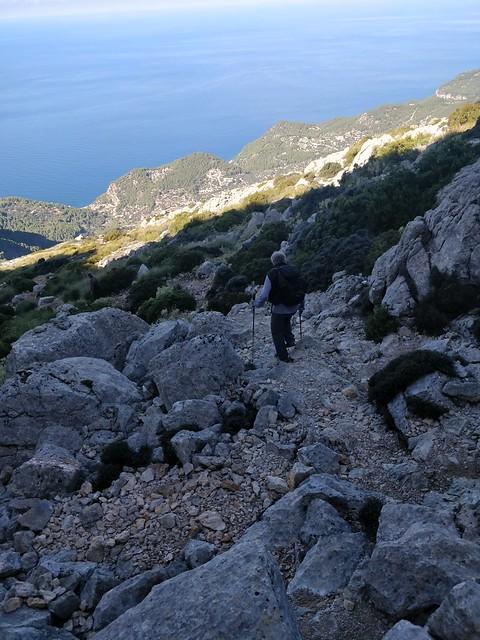Subiendo a Puig de Galatzó, Mallorca