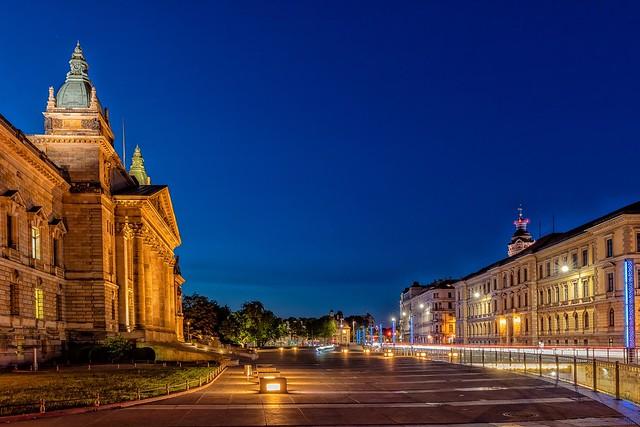 Leipzig Blaue Stunde Blue Hour