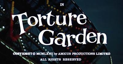 Image-titre du film Le Jardin des tortures (Torture Garden, Freddie Francis, 1967)
