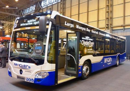 Mercedes Benz Citaro, 'McGills Bus Services', Greenock.  on Dennis Basford's railsroadsrunways.blogspot.co.uk'