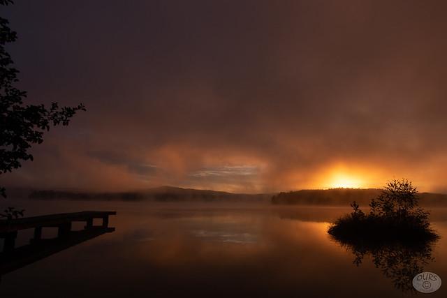 sunrise over the lake - SOOC