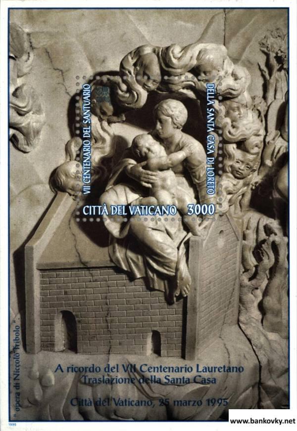 Známky Vatikán 1995 Mária s dieťaťom nerazítkovaný hárček MNH