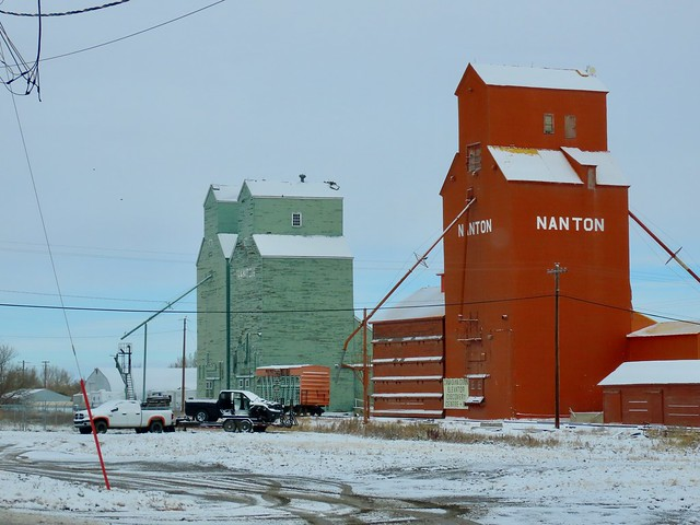 Grain elevators, Nanton AB