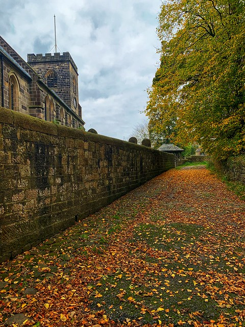Hoghton church in autumn     -     Chorley district