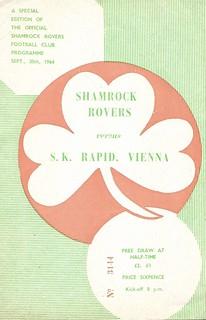 1964-65 CWC, Shamrock Rovers v Rapid