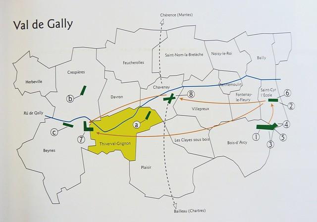 Plaisir-Grignon Anciens Aérodromes Val-de-Gally carte plan