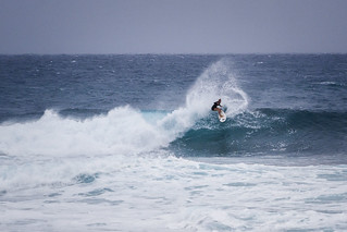 surfing action at Jake's Point
