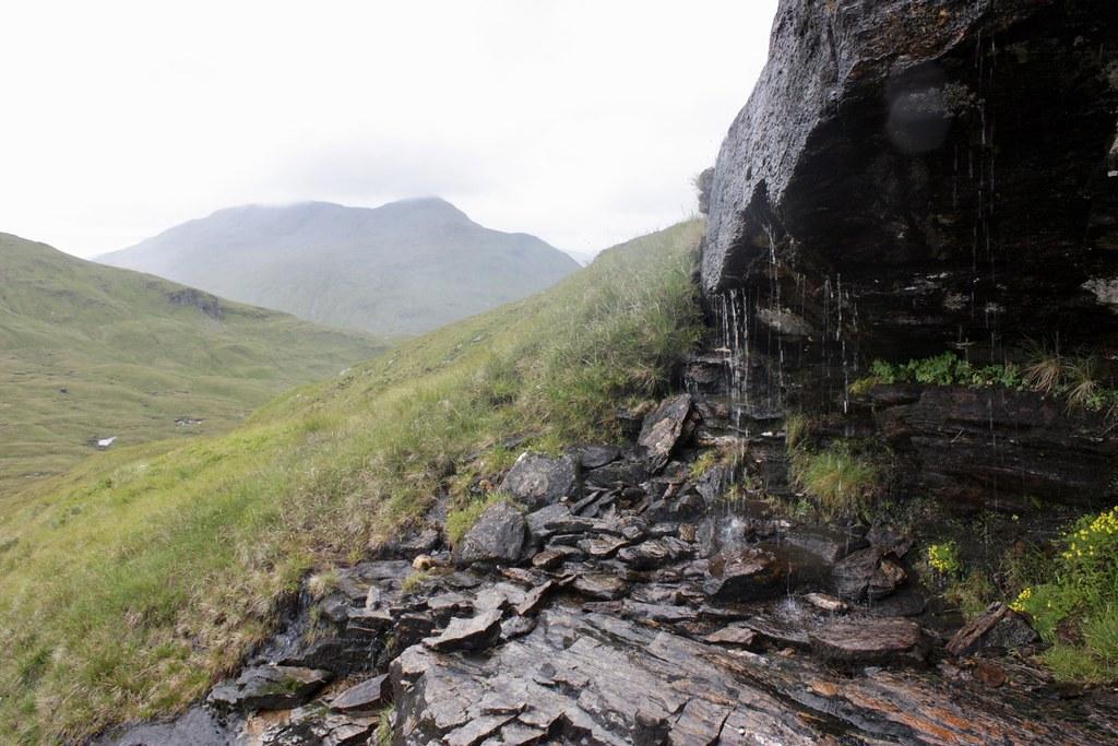 Waterfall below Meall Glas
