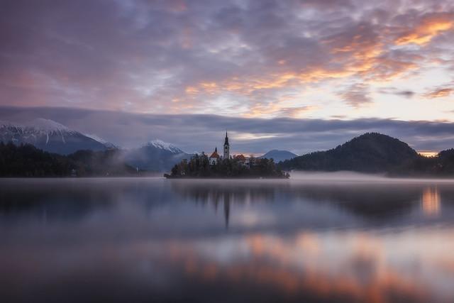 Stunning Sunrise, Lake Bled, Slovenia